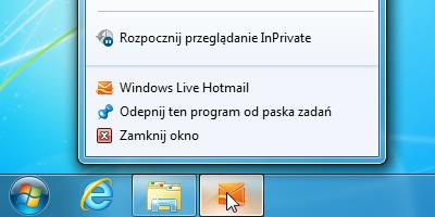 Listy szybkiego dostępu (Jump Lists) w Windows 7