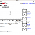 Wireframe dla Youtube (źródło: wireframesketcher.com)